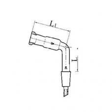 изгиб с керном и муфтой И 90 КМ-14/23-14/23 термостойкое стекло