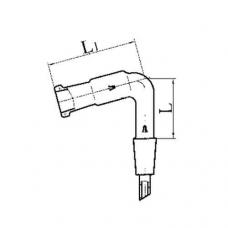 изгиб с керном и муфтой И 75 2К-29/32-14/23 термостойкое стекло