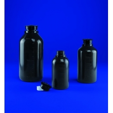 бутылка узкогорлая градуированная 500 мл, п/эт, цвет серый, Aptaca
