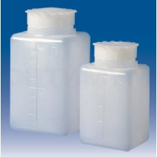 бутылка квадратная градуированная 1000 мл, ПЭНД, LAMAPLAST