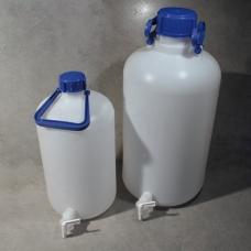 бутыль с краном, с завинчивающейся крышкой и ручкой, 10л, Aptaca ПЭВД