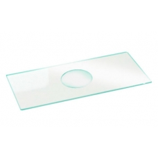 стекло предметное  СП-7103, 76х26+/-1мм, толщина 1,0+/-0,1мм с лункой и шлифованными краями, упаковка 50 шт