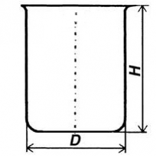Стакан кварцевый низкий НБН-800 мл