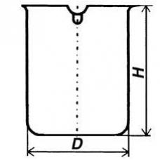 Стакан кварцевый низкий НН-1000 мл