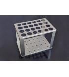 штатив для бутирометров алюминиевый 24 гнезда