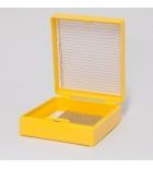 штатив-бокс (25шт) для хранения предметных стекол