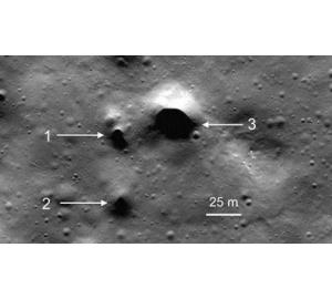 Зонд НАСА нашел следы потухших вулканов на северном полюсе Луны